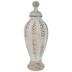 Whitewash Textured Bulbous Jar - Large