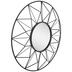Black Geometric Wire Frame Metal Wall Mirror