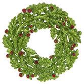 Green Glitter Wreath Ornament