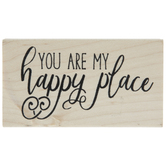 You Are My Happy Place Rubber Stamp