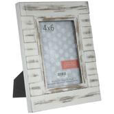 "Whitewash Planks Wood Wall Frame - 4"" x 6"""