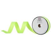 "Neon Green Grosgrain Ribbon - 7/8"""