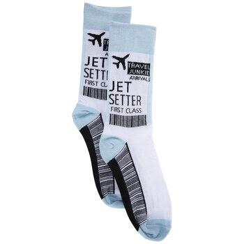 Travel Junkie Crew Socks - Small