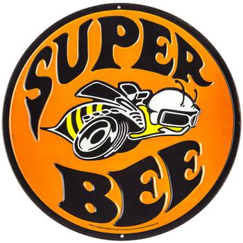 Super Bee Embossed Metal Sign