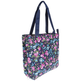 Floral Needlepoint Organizer Tote Bag