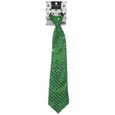 Green Sequin Elastic Band Tie
