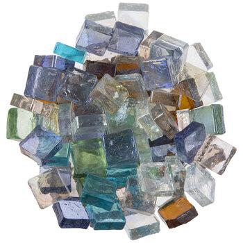 Iridescent Square Glass Mosaic Gems