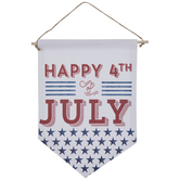 Happy 4th Of July Banner Wall Decor