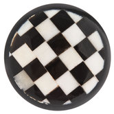 Black & White Checkered Round Knob