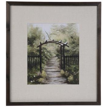 Arch Garden Pathway Framed Wall Decor