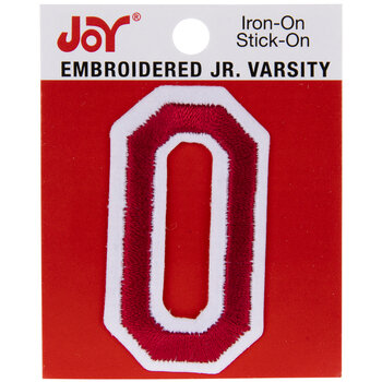 "Red Junior Varsity Letter Iron-On Applique O - 2"""