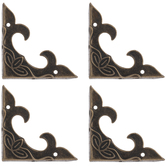 Antique Bronze Plated Leaf Corners
