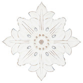 Distressed White Flower Wood Wall Decor
