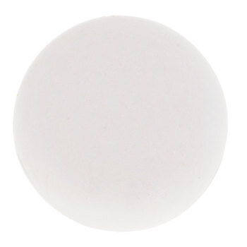 White Knob with Brass Base