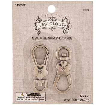 Flower Swivel Snap Hooks - 9mm