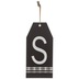 Plaid Tag Letter Wood Wall Decor - S