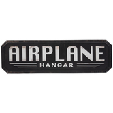 Airplane Hangar Metal Sign