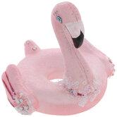 Pink Glitter Flamingo Float Ornament