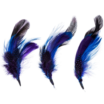 """Bright Natural Feather Picks With Loops - 6"""" - 7"""""""