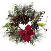 Poinsettia & Pine Candle Ring