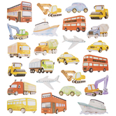 Transportation Glitter Stickers