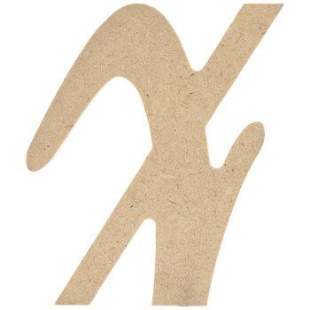 Lowercase Script Wood Letter - X