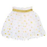 White & Gold Polka Dot Tutu