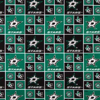 NHL Dallas Stars Block Cotton Fabric