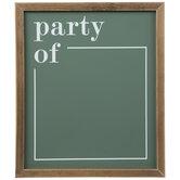 Party Of Chalkboard
