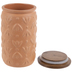 Terracotta Patterned Canister - Large