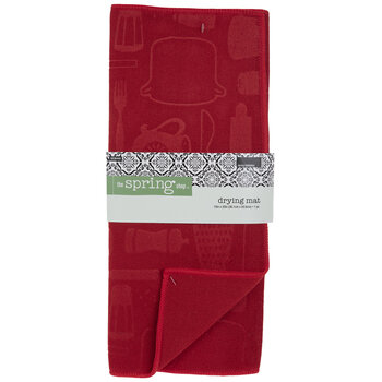 Red Kitchen Drying Mat
