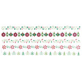 Christmas Icon Foil Border Stickers