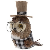 Owl With Glasses & Hat