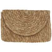 Natural Woven Straw Clutch