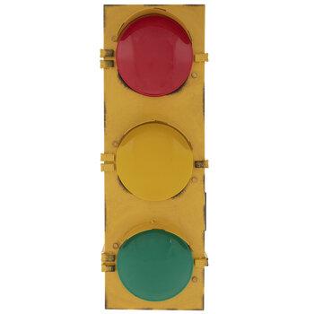 Light Up Traffic Light Wall Decor