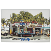 Tropical Ford Garage Canvas Wall Decor