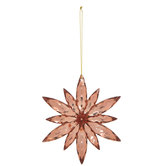 Rose Gold Rhinestone Snowflake Ornament
