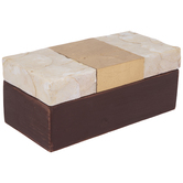 Red Wood Box With Faux Capiz