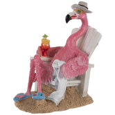 Tropical Flamingo In Chair