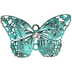 Antique Green Dimensional Butterfly Charm