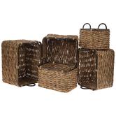Water Hyacinth Rectangle Basket Set