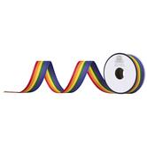 "Rainbow Striped Grosgrain Ribbon - 7/8"""