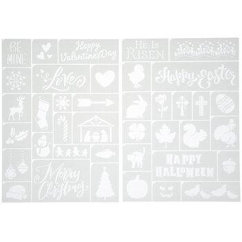 Holiday Icon Adhesive Stencils