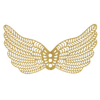 Filigree Angel Wings - 64mm