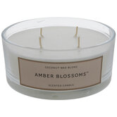 Amber Blossoms Jar Candle