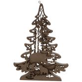 Bear & Cubs Dimensional Tree Ornament