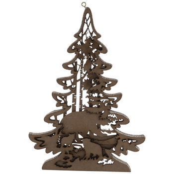 Bear & Cubs Dimensional Tree Ornament