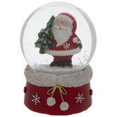 Santa & Snowflakes Snow Globe