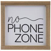 No Phone Zone Wood Wall Decor