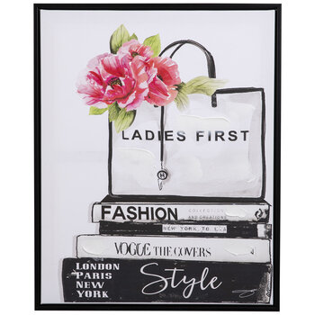 Ladies First Canvas Wall Decor